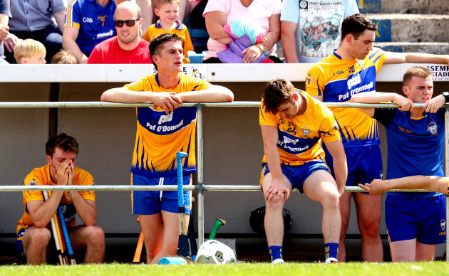 Shane O'Donnell dejected in the closing stages of the game