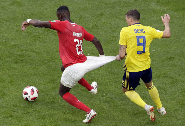 Russia Soccer WCup Sweden Switzerland