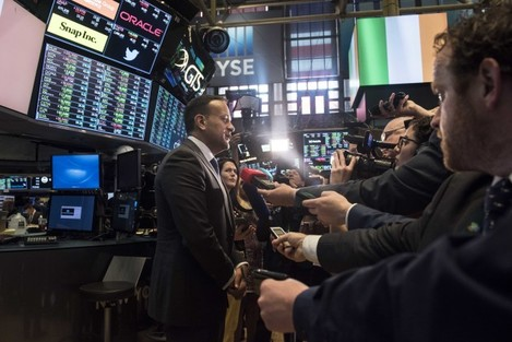 Taoiseach rings bell at NYSE