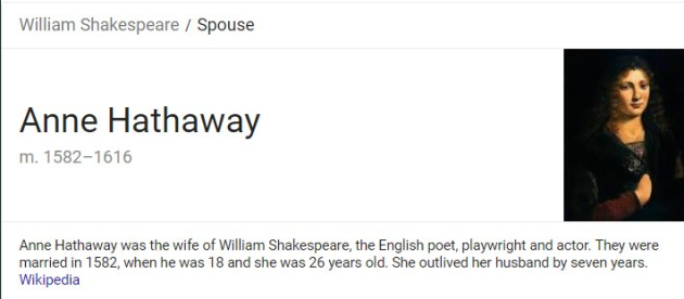 A conspiracy theory about Anne Hathaway, her husband and Shakespeare