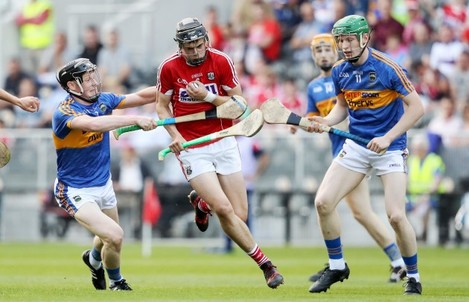 Darragh Fitzgibbon of Cork with Jerome Cahill