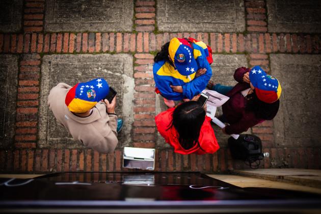 Colombia: Venezuelan Opposition Protest in Bogota