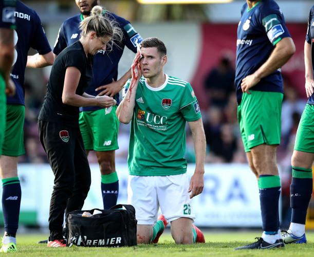 Garry Buckley receives treatment