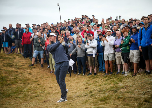 Rory McIlroy on the 9th hole