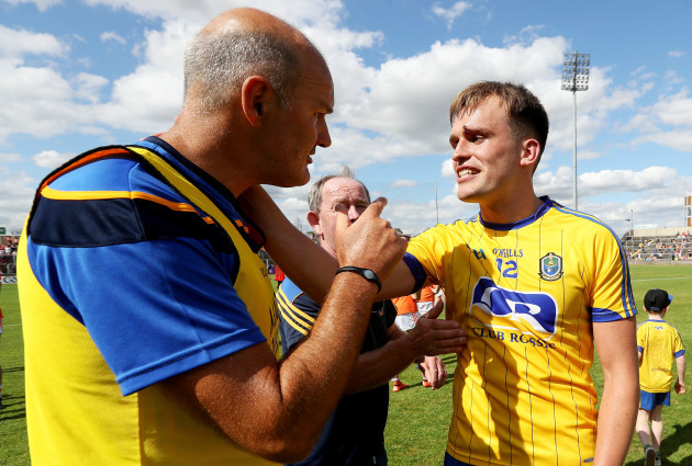 Liam McHale and Enda Smith celebrates after the game