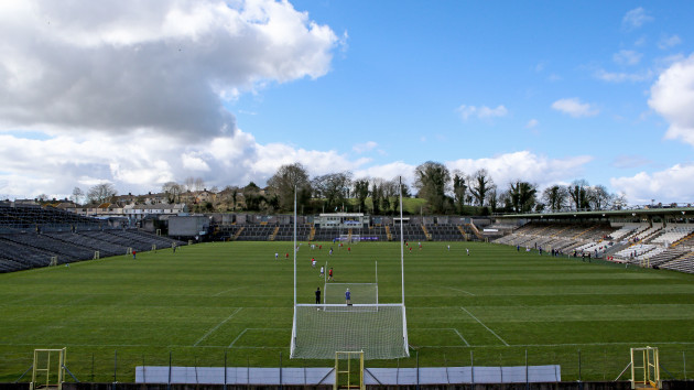 A general view of St Tiernach's Park ahead of the game