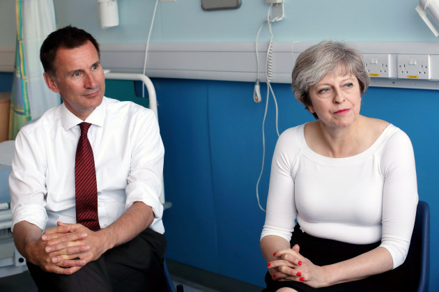 Theresa May visit to Hospital - Liverpool