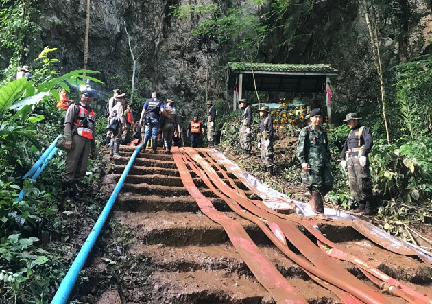 Thai football team trapped in a cave