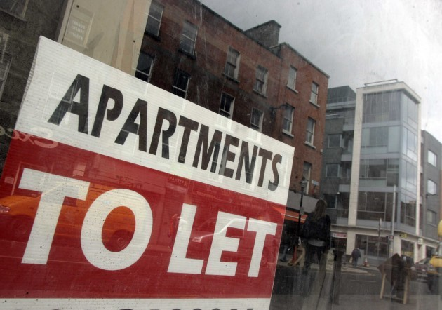 File Photo Deeply troubling': Dublin rent Û380 higher a month than at Celtic Tiger peak. End.