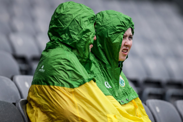 A view of Kerry supporters ahead of the game