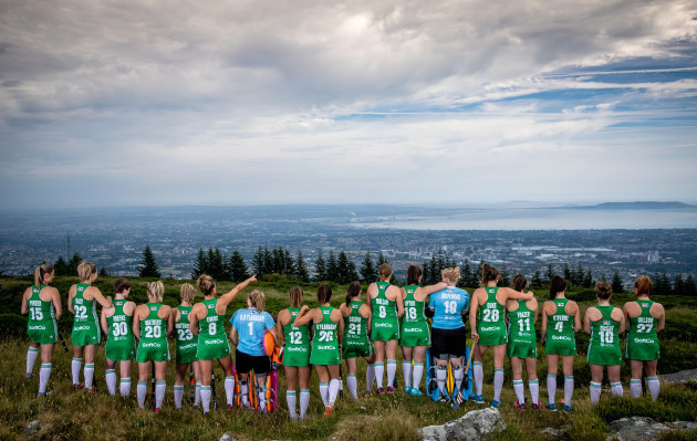 The Ireland Women's Hockey Team at today's announcement