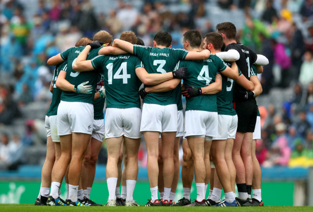 Kildare huddle before the game