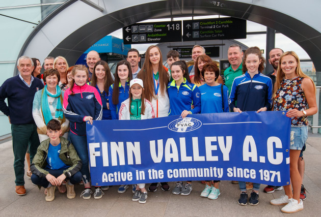 Summer Lecky with family and friends from Finn Valley A.C