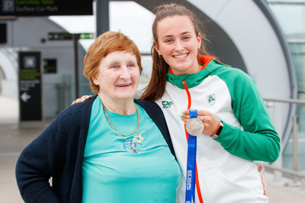 Ciara Neville with her grandmother Maura McCutcheon