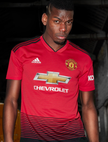 half off dfcf4 5f61f Man United unveil new home kit featuring 'train track ...