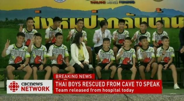 Thai team save