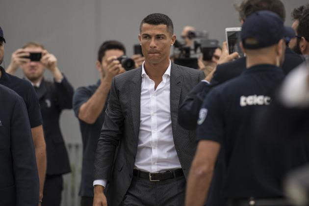 Cristiano Ronaldo at J Medical in Turin