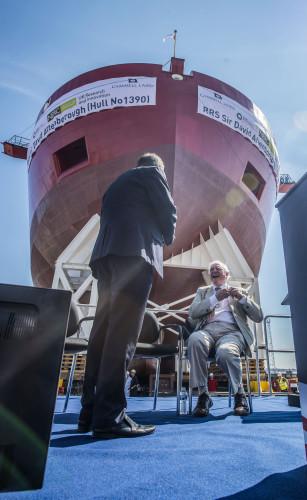 RRS Sir David Attenborough hull launch