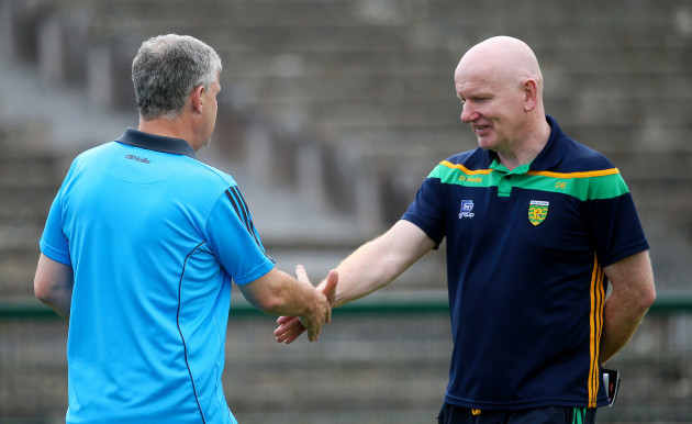 Kevin McStay with Declan Bonner before the game