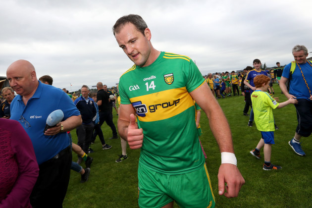 Michael Murphy celebrates after the game