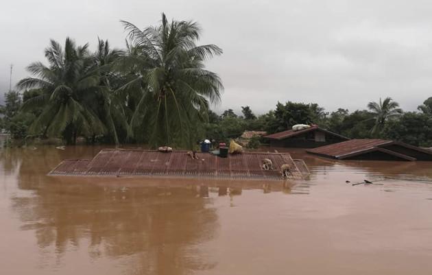 Laos Collapsed Dam