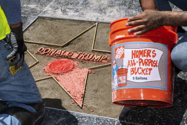 CA: Trump Hollywood Walk of Fame Star Destroyed