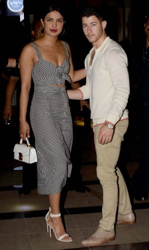 India: Bollywood Actor Priyanka Chopra And American Singer And Actor Nick Jonas In Mumbai