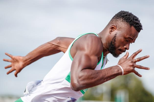 Brandon Arrey during the Men's 400m Heats