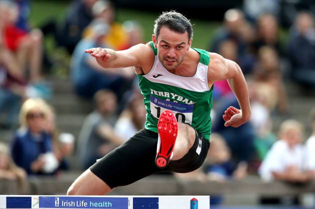 Thomas Barr on his way to winning his 8th National title