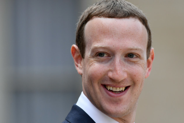 France: Mark Zuckerberg At 'Tech For Good' at the Elysée Palace