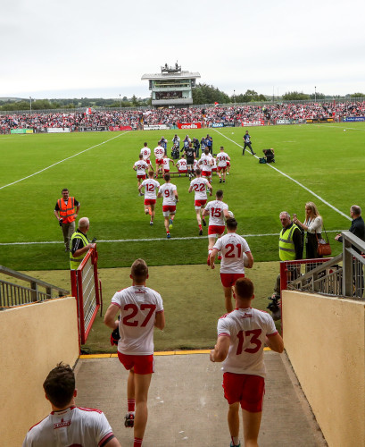 Tyrone take to the field