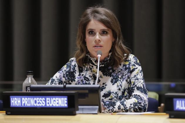 NY: Princess Eugenie of York at UN to Help Abolishing Modern Slavery
