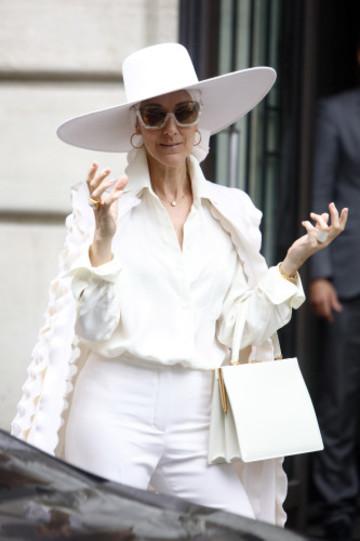 France: Celine Dion leaves her hotel in Paris