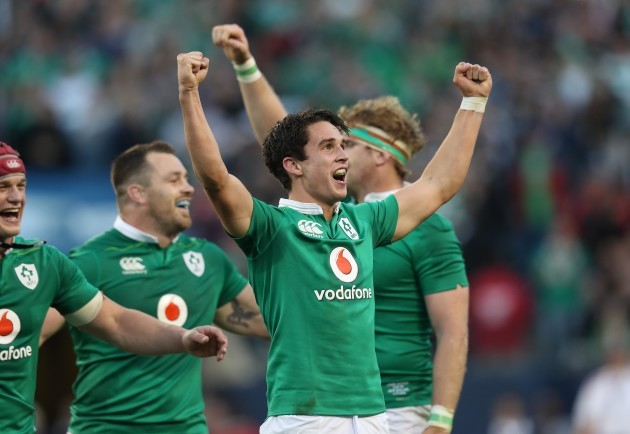 Joey Carbery celebrates winning