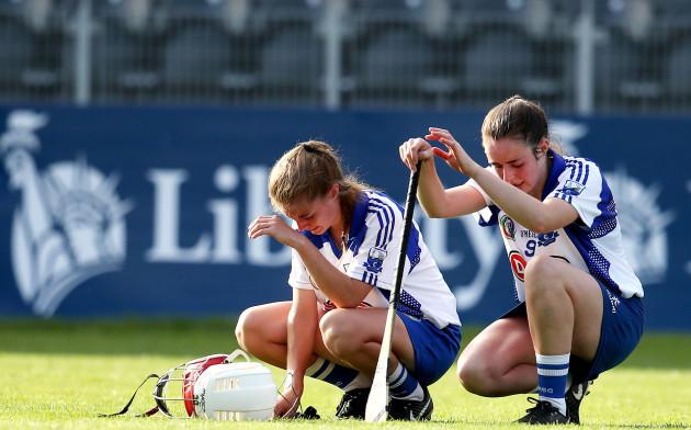 Lorraine Bray and Deirdre Fahey dejected