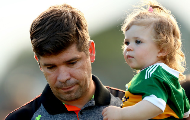 Eamonn Fitzmaurice and his daughter Faye after the game