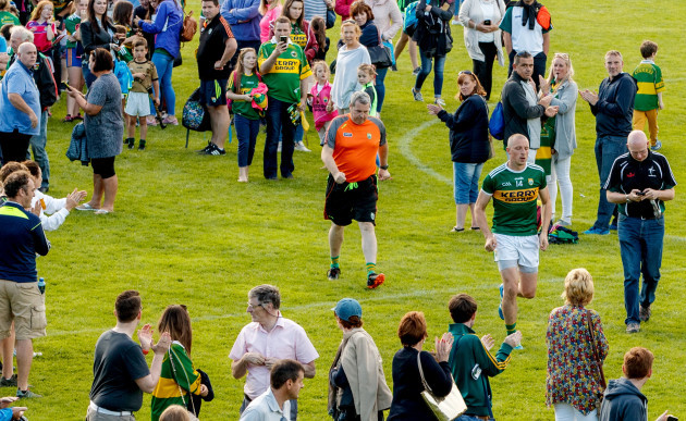 Fans applaud as Kieran Donaghy leaves the field