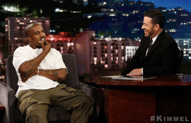 Kanye West on Jimmy Kimmel Credit: ABC/Randy Holmes