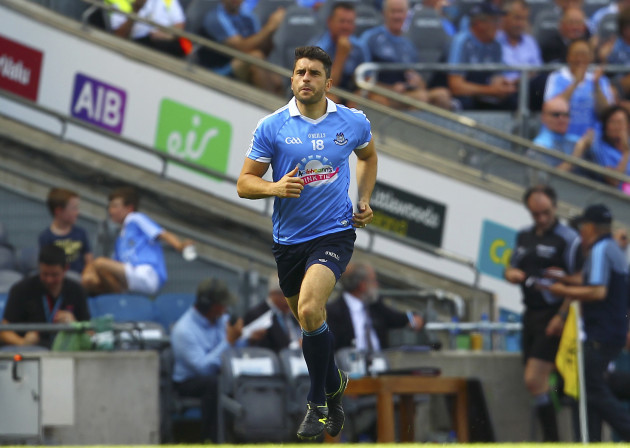 Bernard Brogan enters the pitch