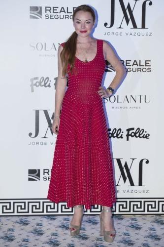 Lindsay Lohan At Jorge Vazquez Collection Presentation - Madrid
