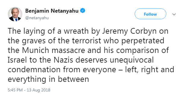 Netanyau tweet