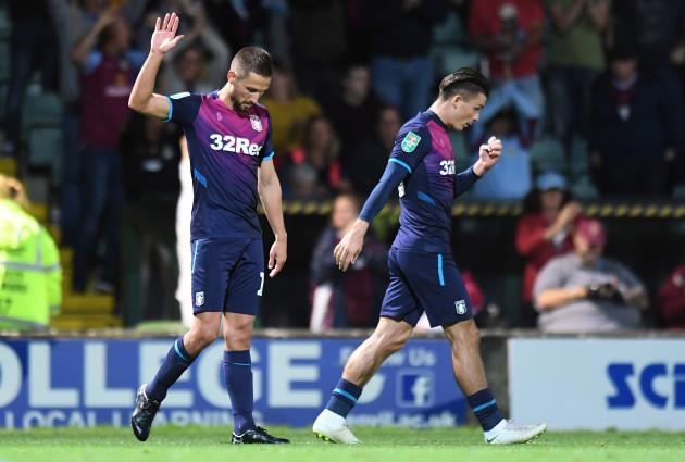 Yeovil Town v Aston Villa - Carabao Cup - First Round - Huish Park