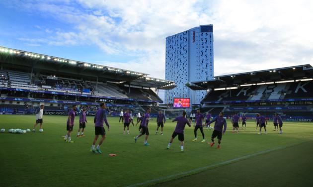 Real Madrid v Sevilla - UEFA European Super Cup - Real Madrid Training Session - Lerkendal Stadion