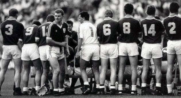 Peter Finnerty and the Galway team 1987