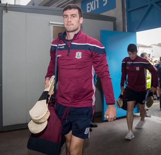 David Burke arrives at the stadium