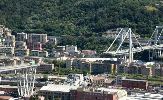 ITALY-GENOA-BRIDGE COLLAPSE