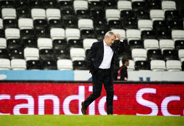 John Caulfield dejected after the game