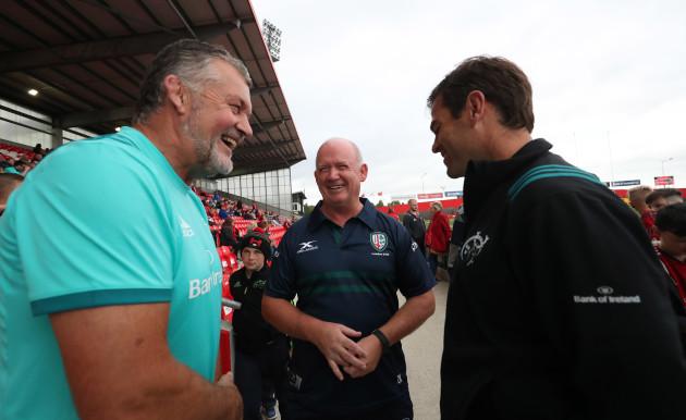 Declan Kidney with Niall O'Donovan and Johan van Graan