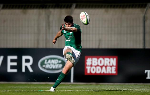 Harry Byrne kicks a conversion