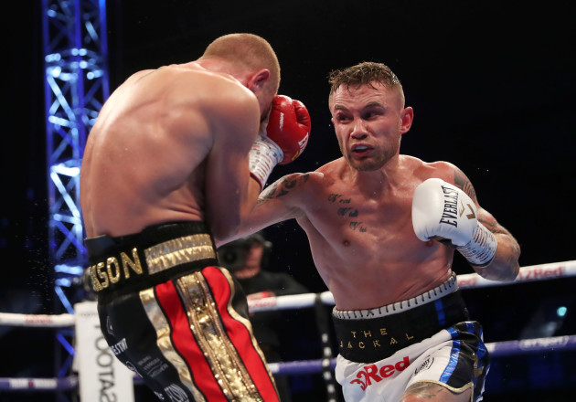 Carl Frampton with Luke Jackson